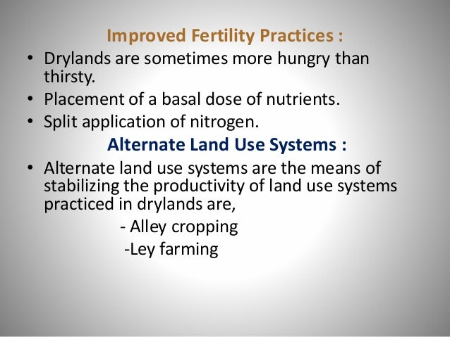 • Nutrient immobilization • Carry over of Insect-pests and Diseases pathogen • Low investment capacity of dryland farmers ...
