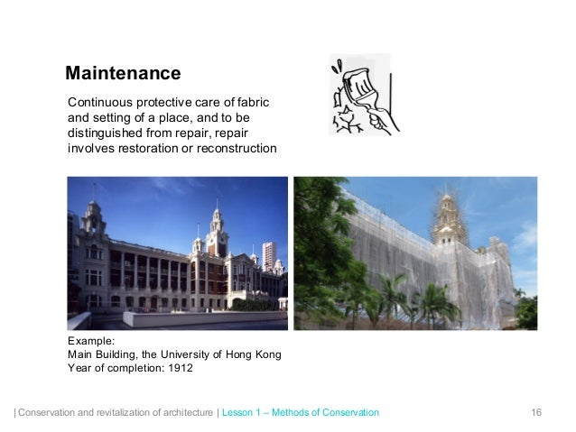 conservation of historic buildings ppt