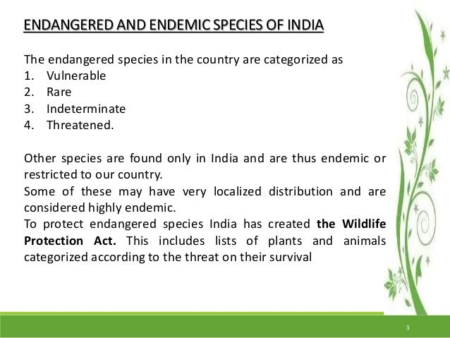 an introduction to endangered animals and the effectiveness of their conservation methods The endangered species act (esa) of 1973 (16 usc â§â§1531-1544 (1988)) is a far-reaching law that provides protection for threatened and endangered species and their habitats.