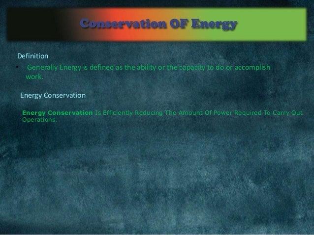 Conservation of energy Slide 3