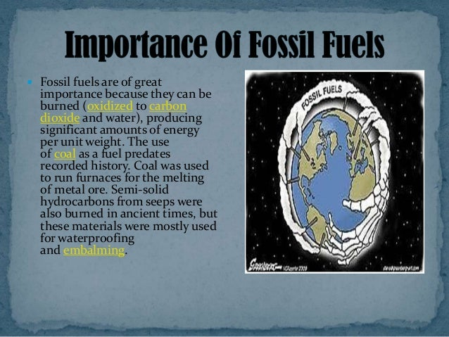 Conservation of fossil fuels
