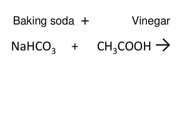 Chemical Formula For Vinegar Science conservation of matter - equation ...