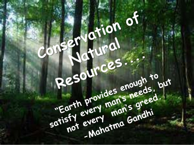 Ten Lines on Conservation of Natural Resources in English