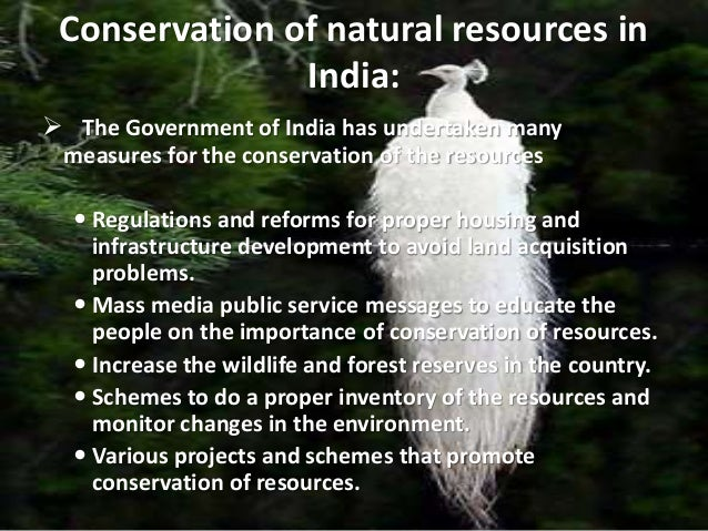 Sustainable Management Of Natural Resources In India