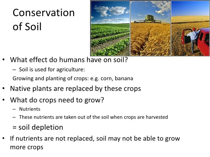 Conservation of natural resources energysoil for Meaning of soil resources
