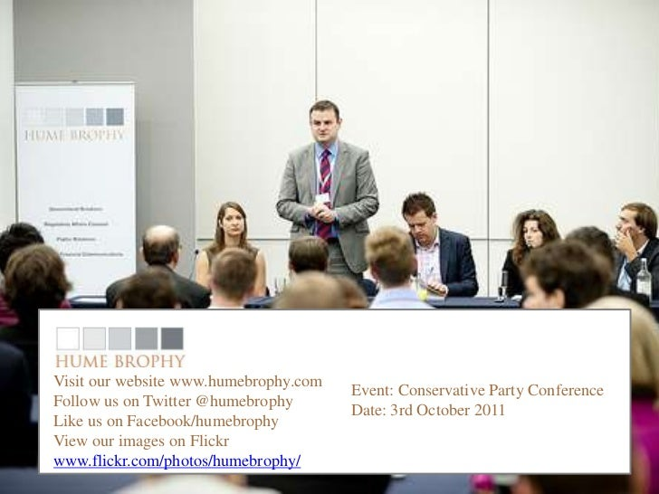 Conservative partyVisit our website www.humebrophy.com                                       Event: Conservative Party Con...