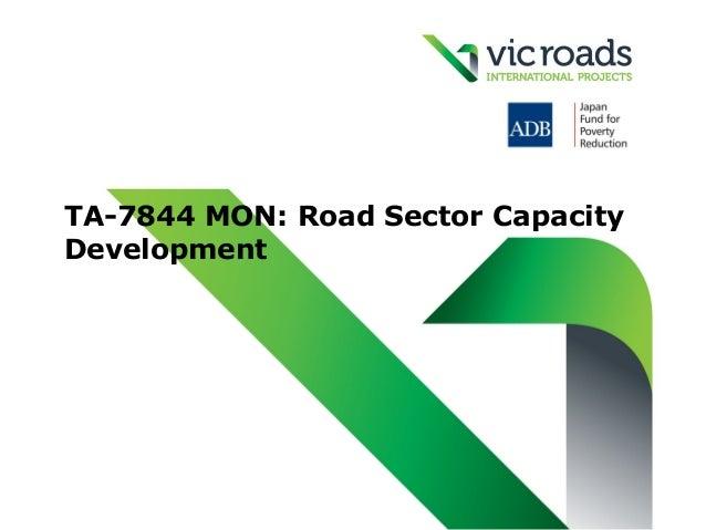 TA-7844 MON: Road Sector CapacityDevelopment