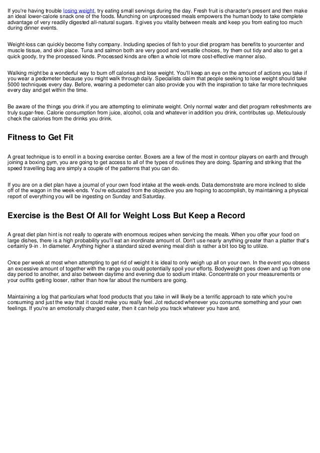 ecton lakes tips to lose weight