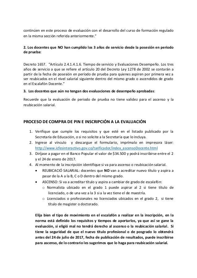 Consideraciones convocatoria ascenso y reubicaci n for Docentes en el exterior 2016