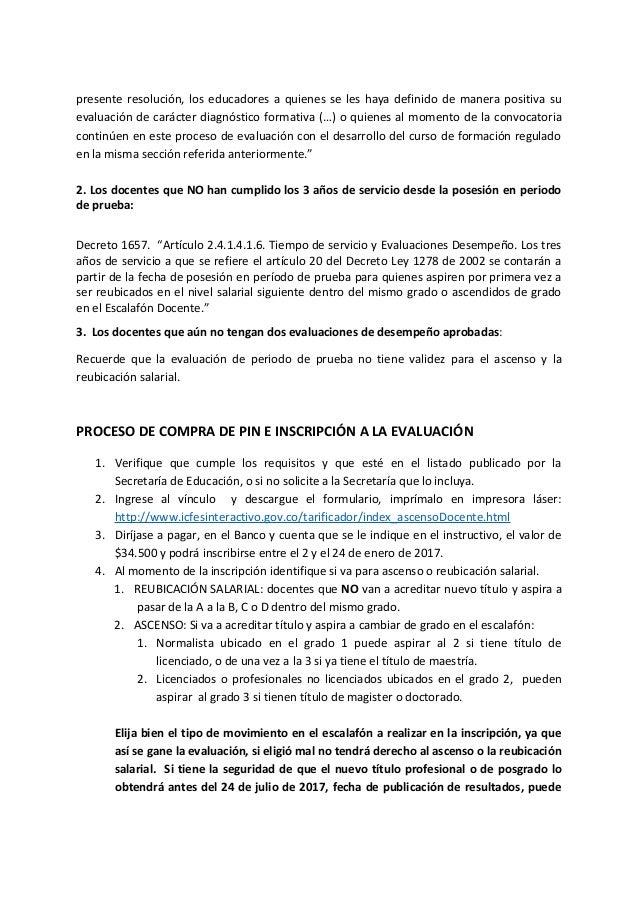 Consideraciones Convocatoria Ascenso Y Reubicaci N