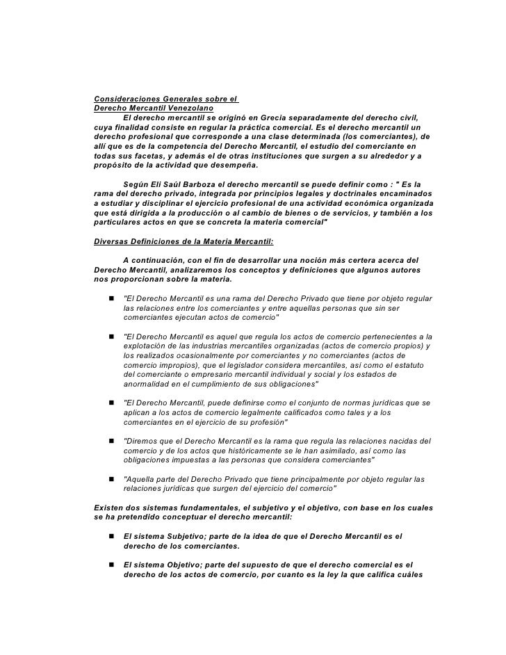 Consideraciones Generales sobre elDerecho Mercantil Venezolano        El derecho mercantil se originó en Grecia separadame...