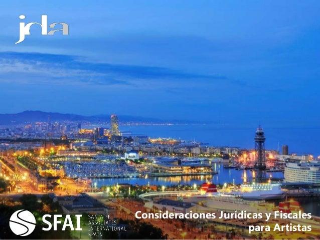 Consideraciones Jurídicas y Fiscales para Artistas