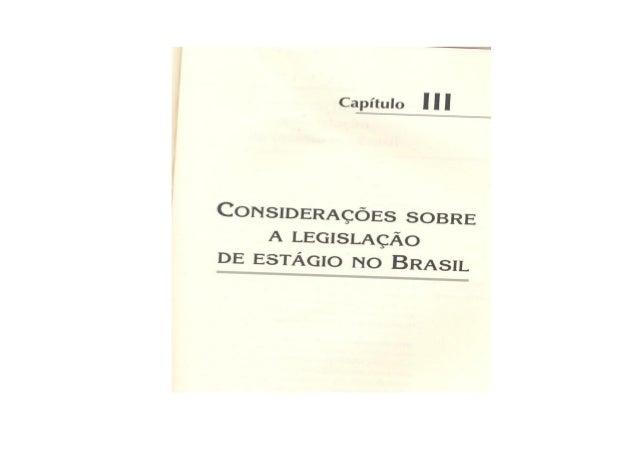Considerações sobre a legislação de estágio no brasil