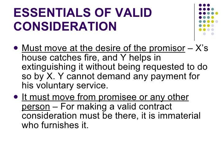 valid consideration examples