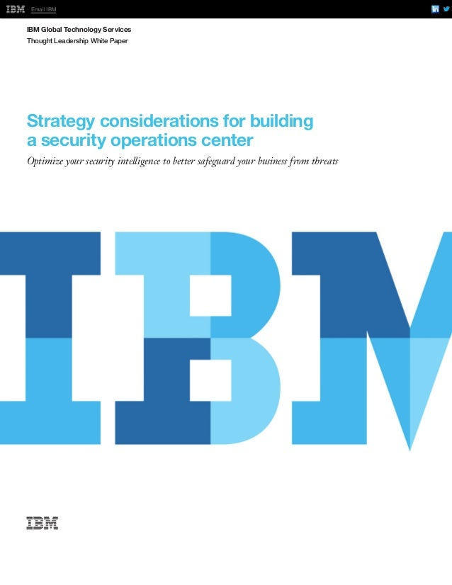 Strategy considerations for building a security operations