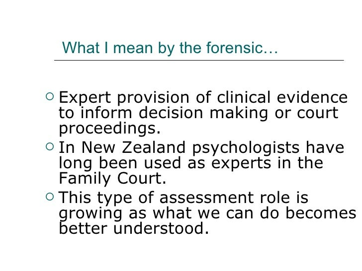 the growth and role of forensic psychology Human growth and development introduction to forensic psychology students will also learn about the forensic psychologists role in criminal and civil.
