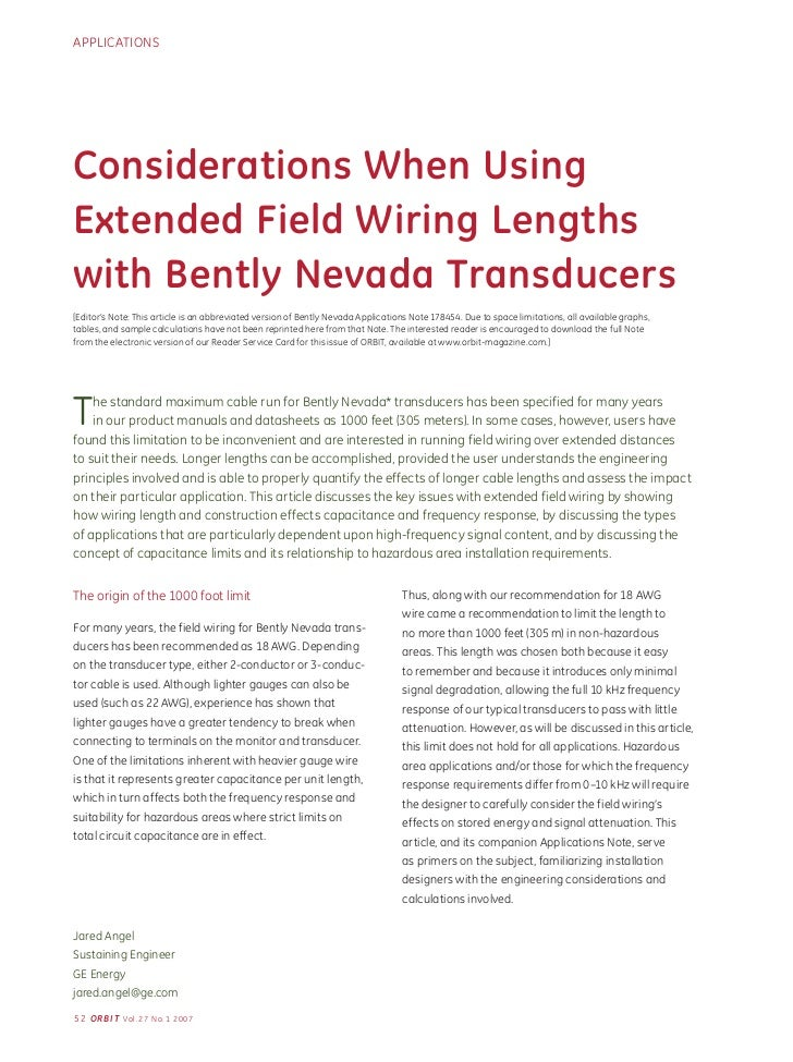 considerations when using extended field wiring lengths with bently n gilbarco wiring-diagram applicationsconsiderations when usingextended field wiring lengthswith bently nevada transducers[editor's note this artic