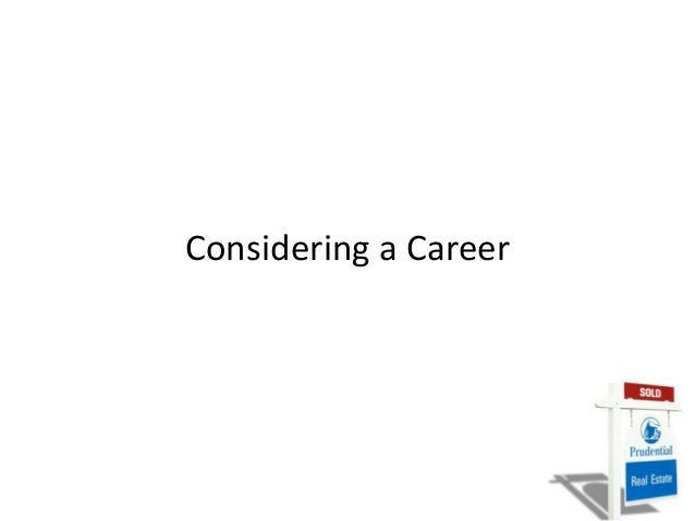 Considering a Career