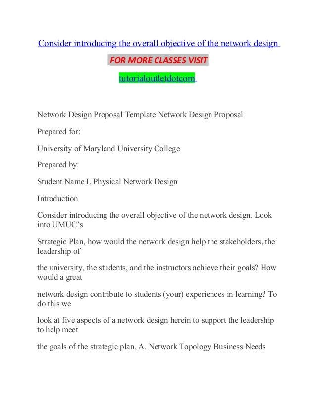 Consider introducing the overall objective of the network design/tuto…