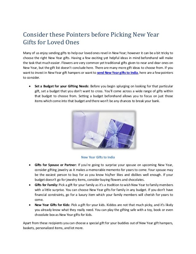 Consider these Pointers before Picking New Year Gifts for Loved Ones Many of us enjoy sending gifts to help our loved ones...