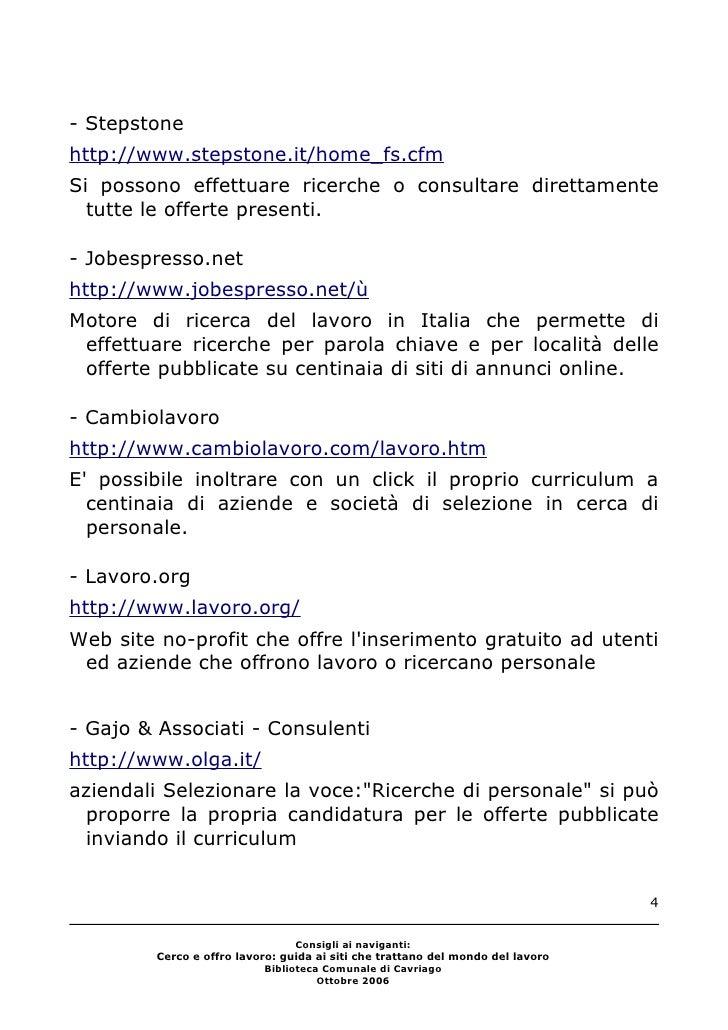Consigli Ai Naviganti Cerco Lavoro Biblioteca Cavriago