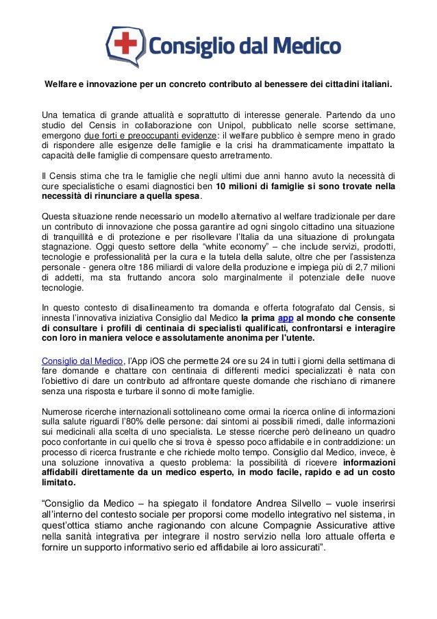 Welfare e innovazione per un concreto contributo al benessere dei cittadini italiani. Una tematica di grande attualità e s...