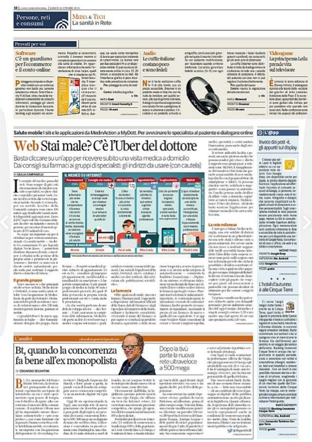 C'è l'UBER del dottore: Consiglio dal Medico su Corriere Economia