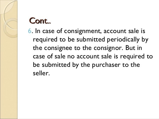 SlideShare  Consignment Legal Definition