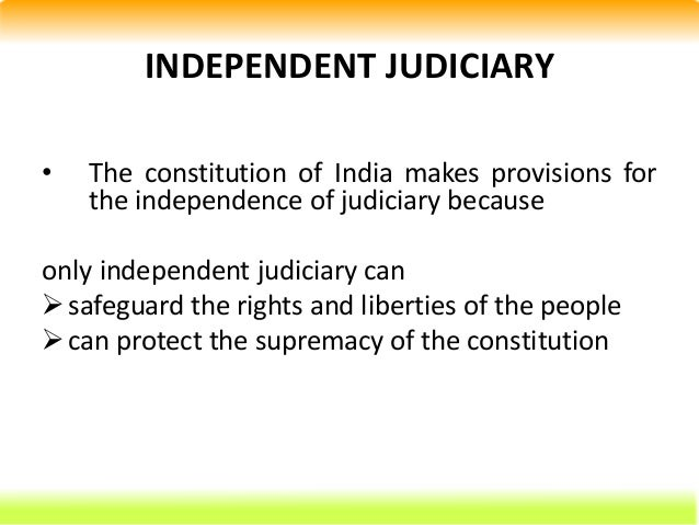 An introduction to the independence of the judiciary in australia