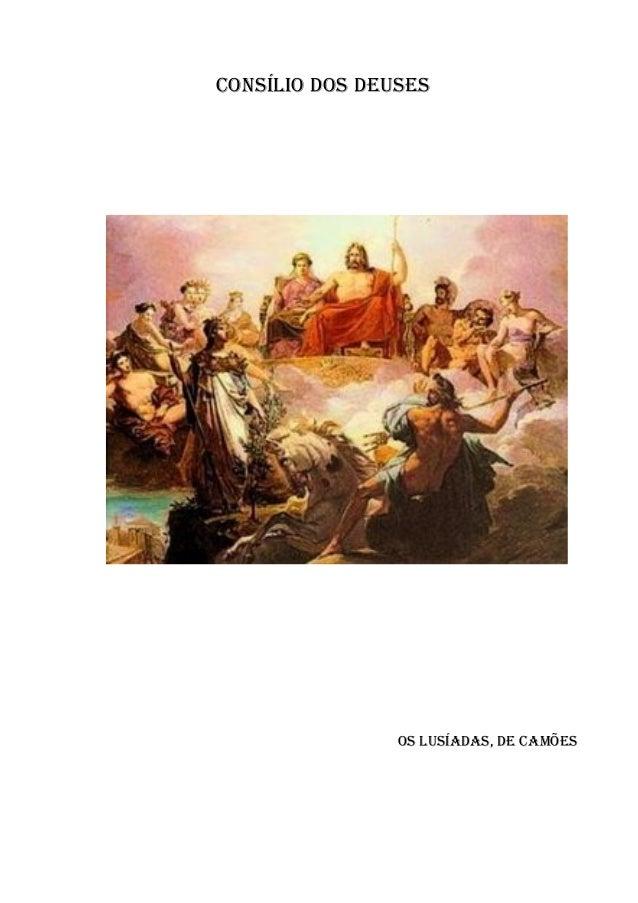 Consílio dos deusesos lusíadas, de Camões