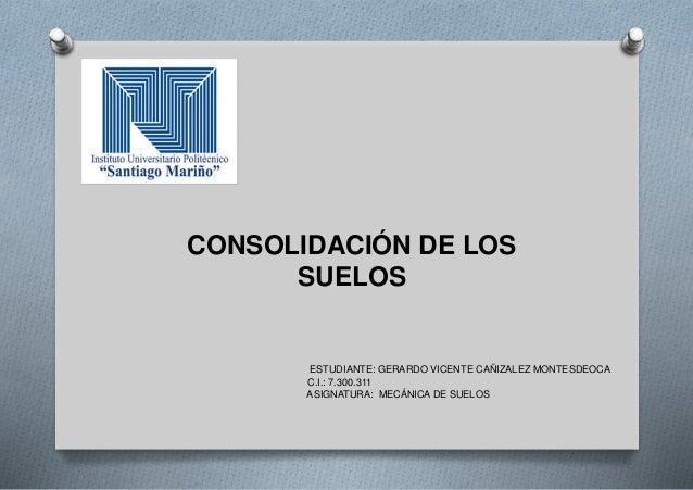 Consolidaci n de los suelos for Consolidacion de suelos