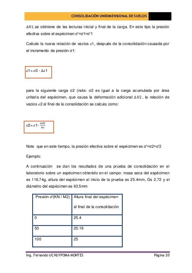 Consolidaci n unidimensional de suelos for Consolidacion de suelos