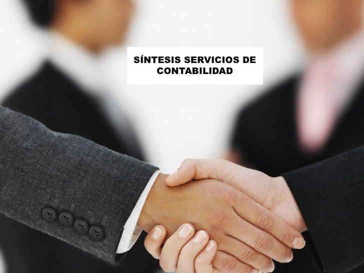 SÍNTESIS SERVICIOS DE     CONTABILIDAD