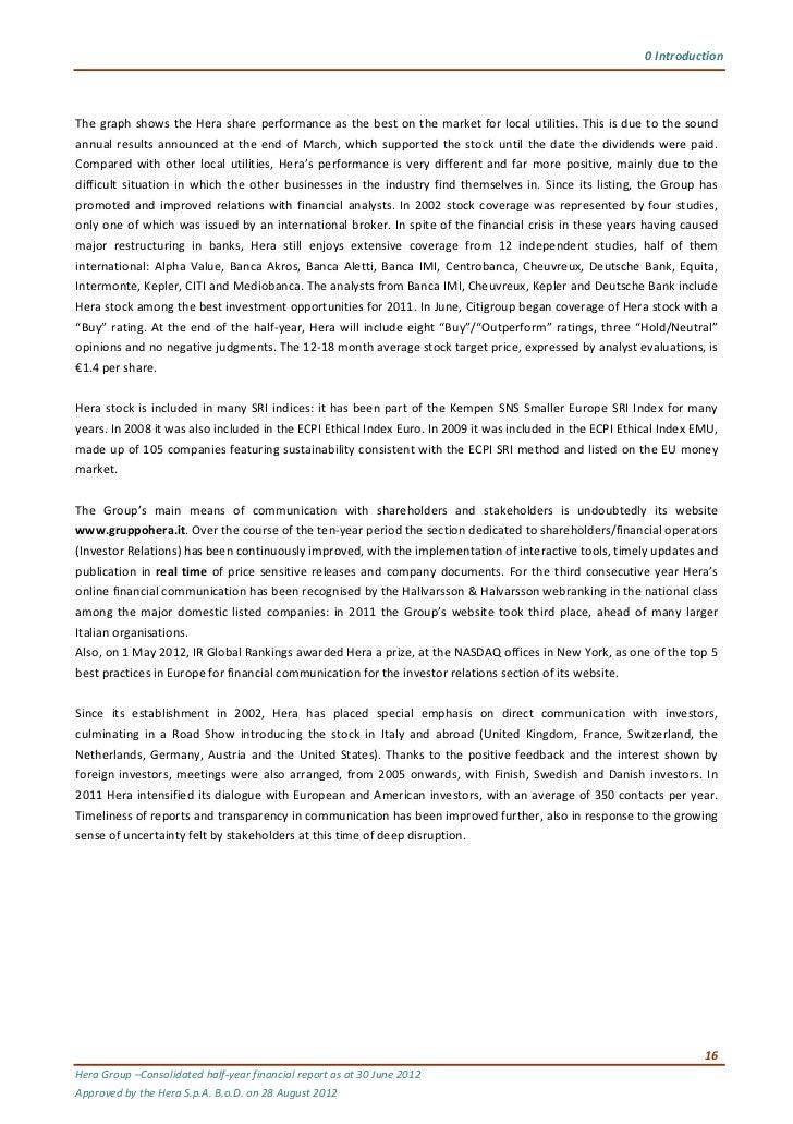 Halfyear financial report as at 30 june 2012 directors reports 21 publicscrutiny Gallery