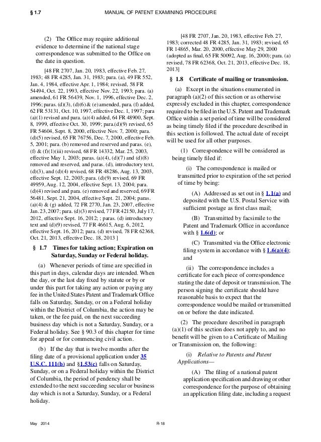 Consolidated Patent Rules Manual Of Patent Examining