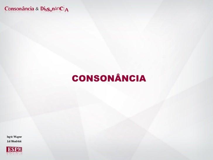 CONSONÂNCIA
