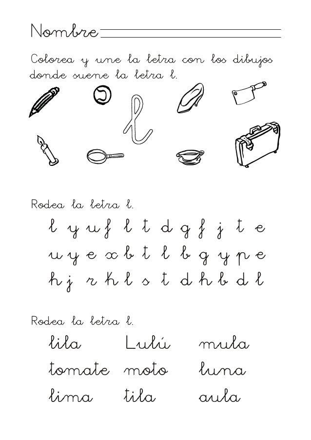 Proyecto Habla M Letra L