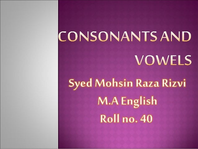 how to remember vowels and consonants