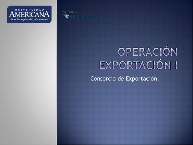 Consorcio de Exportación.