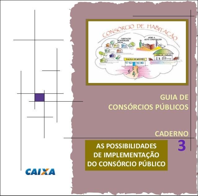 GUIA DE CONSÓRCIOS PÚBLICOS CADERNO 3AS POSSIBILIDADES DE IMPLEMENTAÇÃO DO CONSÓRCIO PÚBLICO