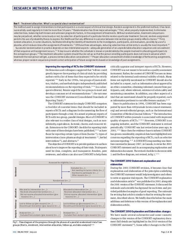 Consort 2010 Explanation And Elaboration Bmj