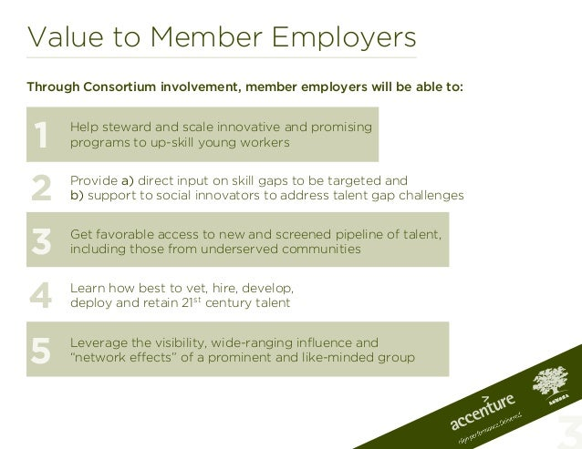 Value to Member EmployersThrough Consortium involvement, member employers will be able to:Help steward and scale innovativ...