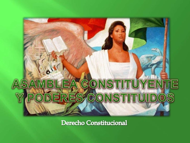 La nación o el pueblo, no puede por si mismo  ejercer el Poder Constituyente, por lo tanto, se  requiere la acción de otra...