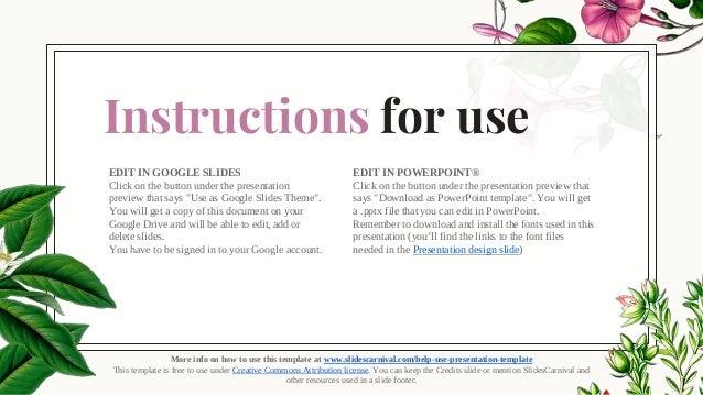 garden template for ppt or google slides