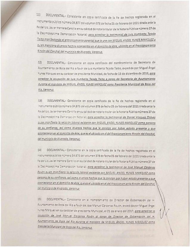 Constancia yunes marquez denuncia