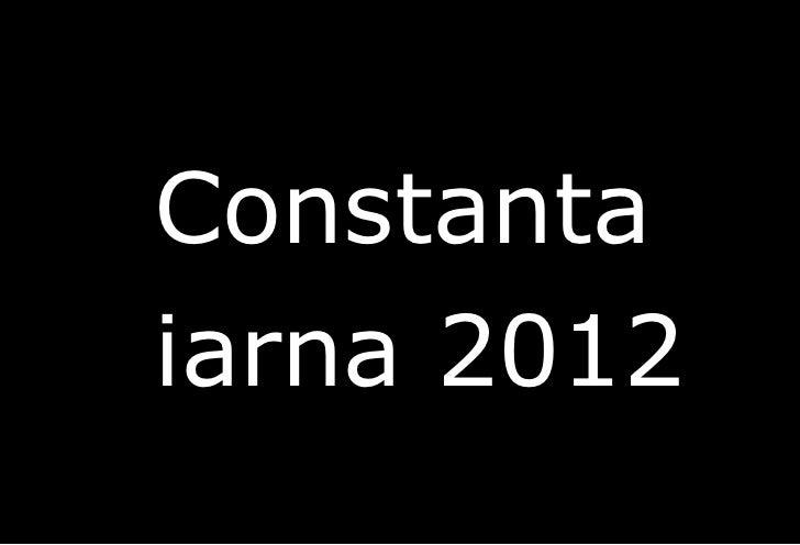 <ul><li>Constanta  </li></ul><ul><li>iarna 2012 </li></ul>Richard Bach
