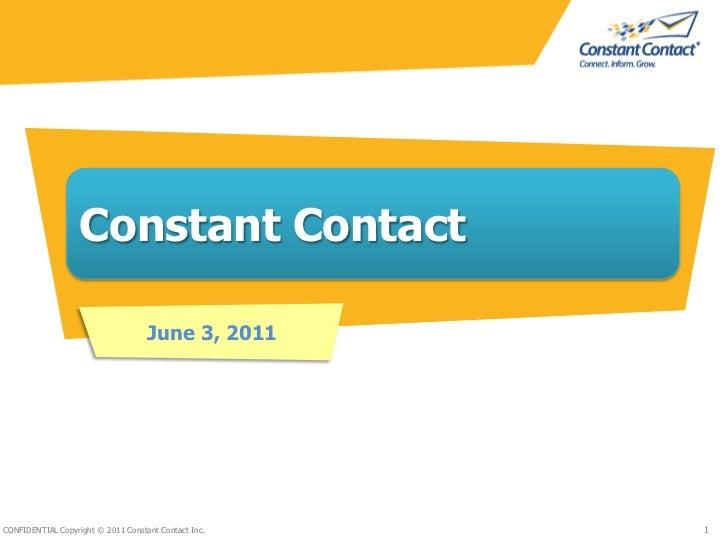 Constant Contact<br />June 3, 2011<br />