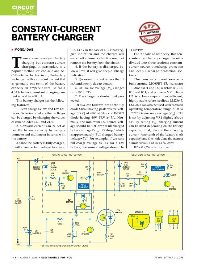 constant current battery charger rh slideshare net constant current battery charging circuit diagram constant current lead acid battery charger circuit