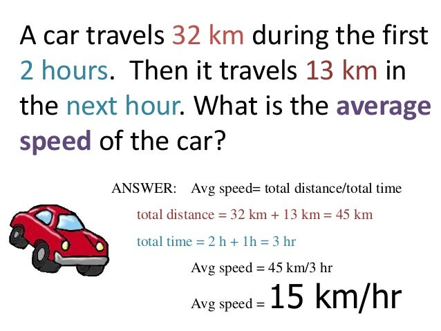 Constant vs Average speed – Calculating Average Speed Worksheet
