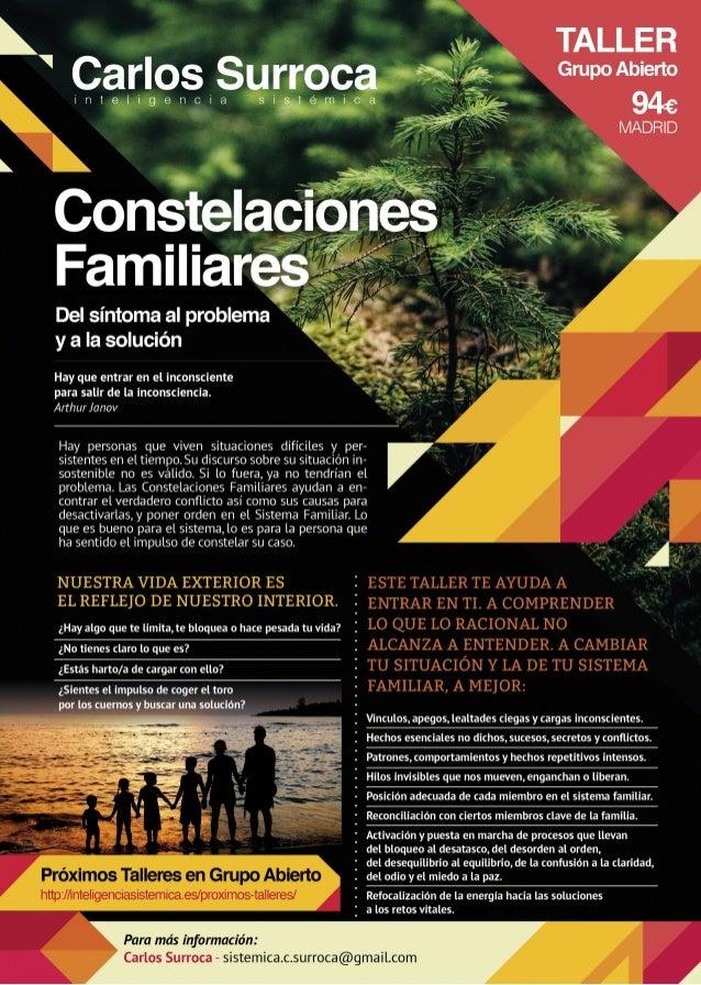 Constelaciones Familiares: del síntoma al problema y a la solución.